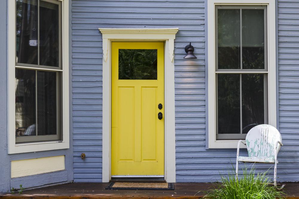 a bold front door