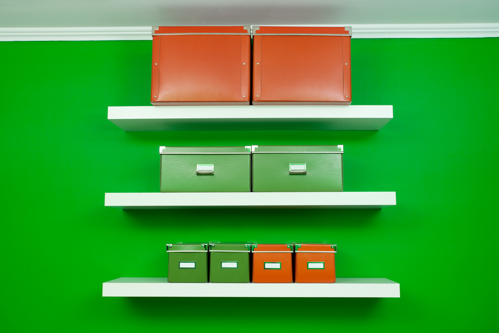 Use stylish storage boxes