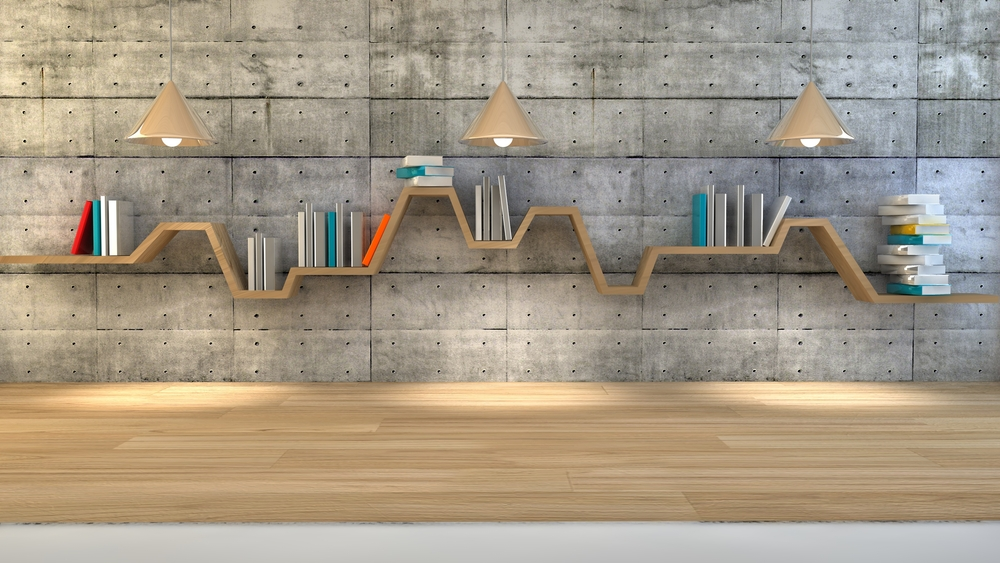 install a shelf across your entire wall