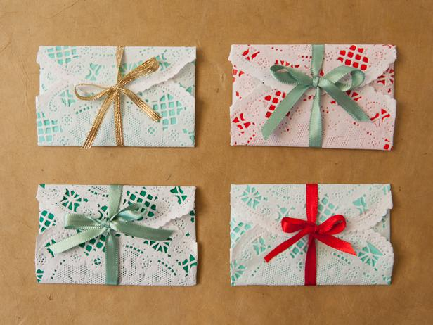 Make tiny envelopes for gift cards