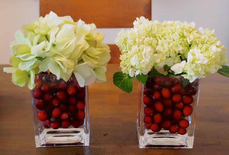 The Cranberry Floral Centerpiece
