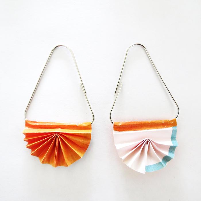 Assemble Paper Clip Earrings
