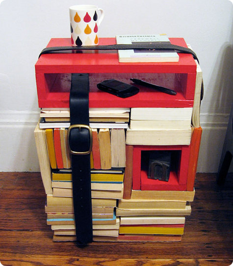 Build a side table with books