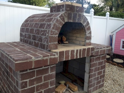 Build an outdoor pizza oven