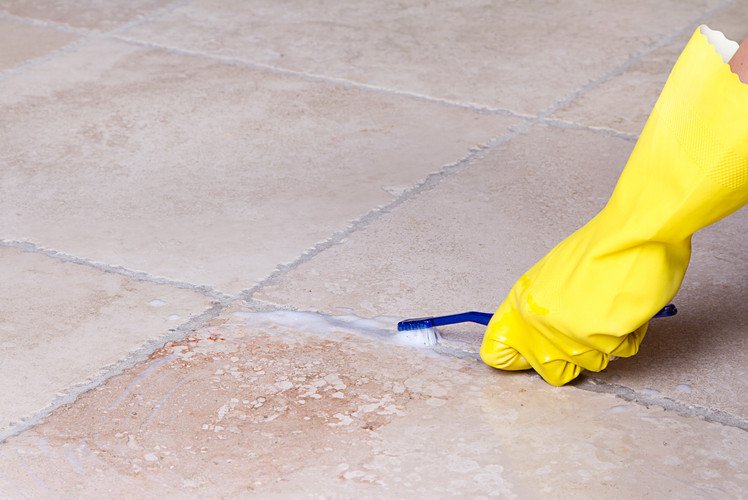 Wash Floors and Clean Grout