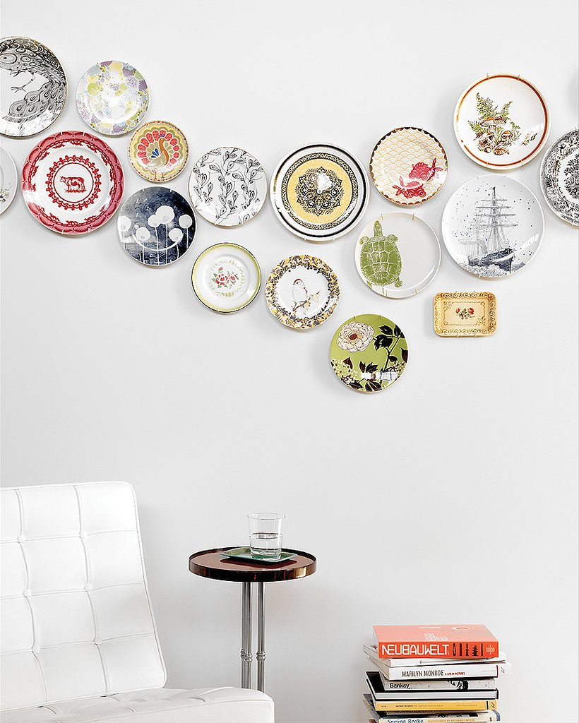 Use plates as wall decorations