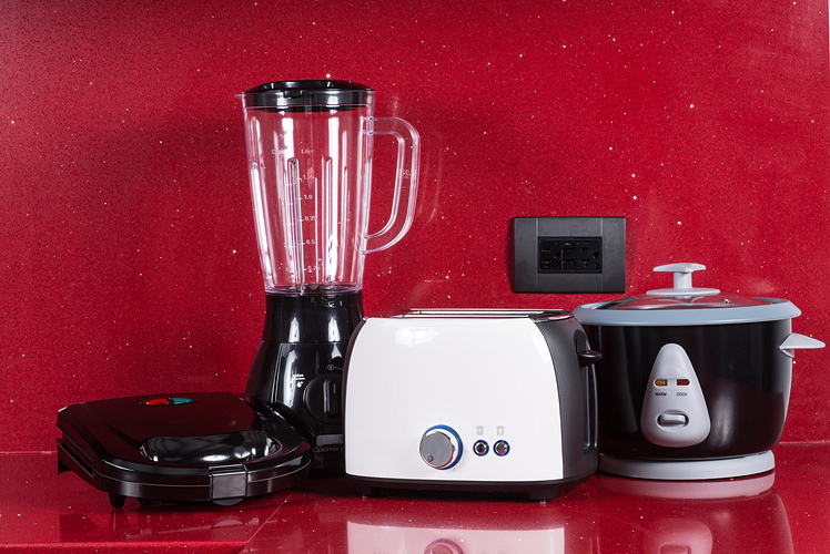 Use small appliances as accent pieces