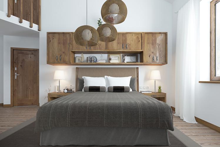 add storage above your headboard