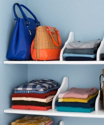 shelf dividers can help you to keep any closet organised