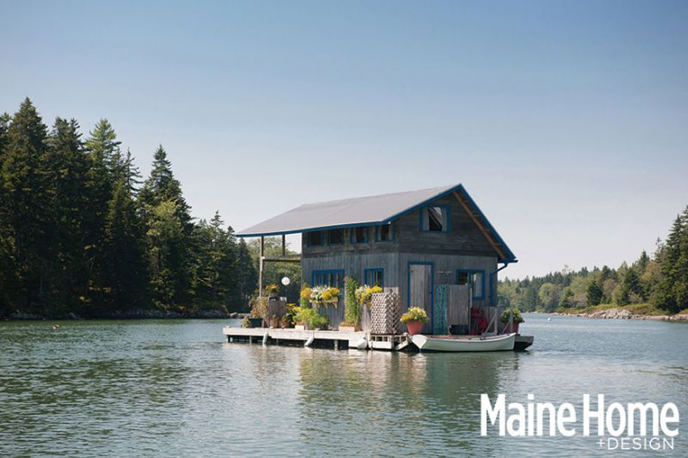 floating, cabin, maine