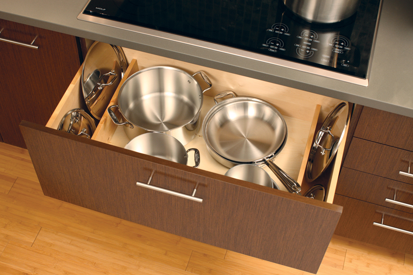 Store your pots and pans under the stove