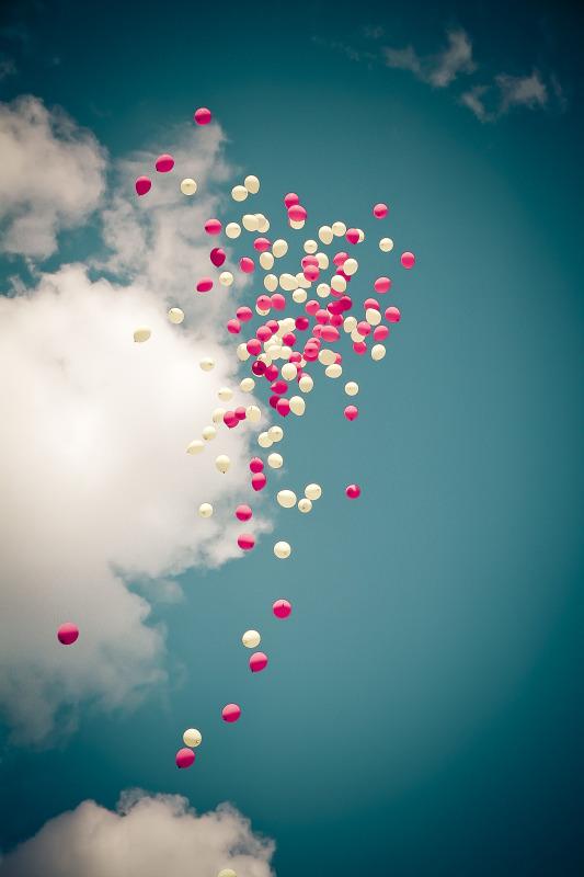 Balloon Release at garden party