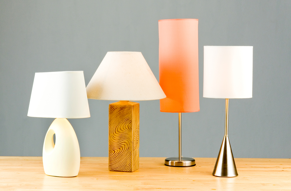 add a pop of colour by changing light shades