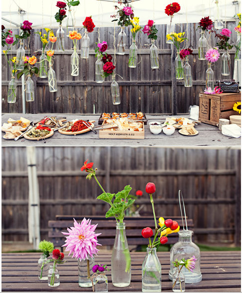 Decorations at garden party