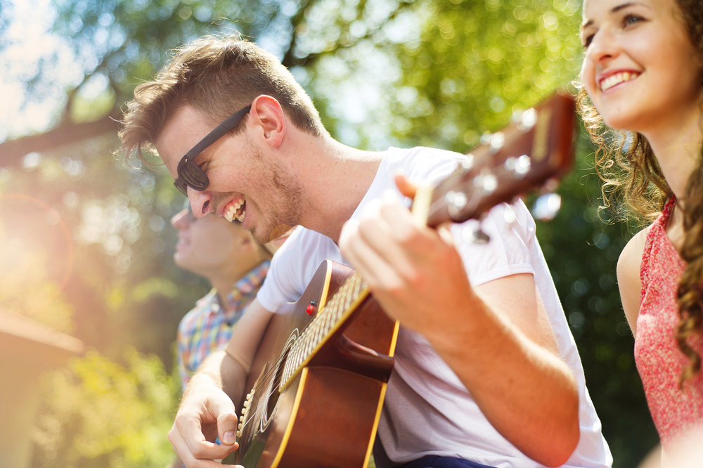 Live Music at a garden party