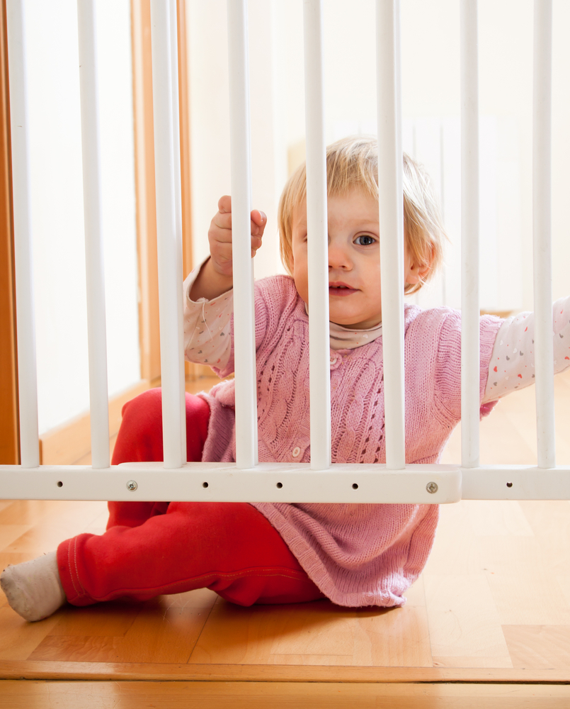 Protect Stairs with a stair gate if you have a baby