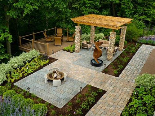 seperate backyard spaces