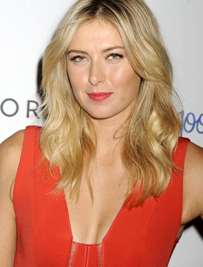 Maria Sharapova attends a promotional event for Supergoop sunscreen