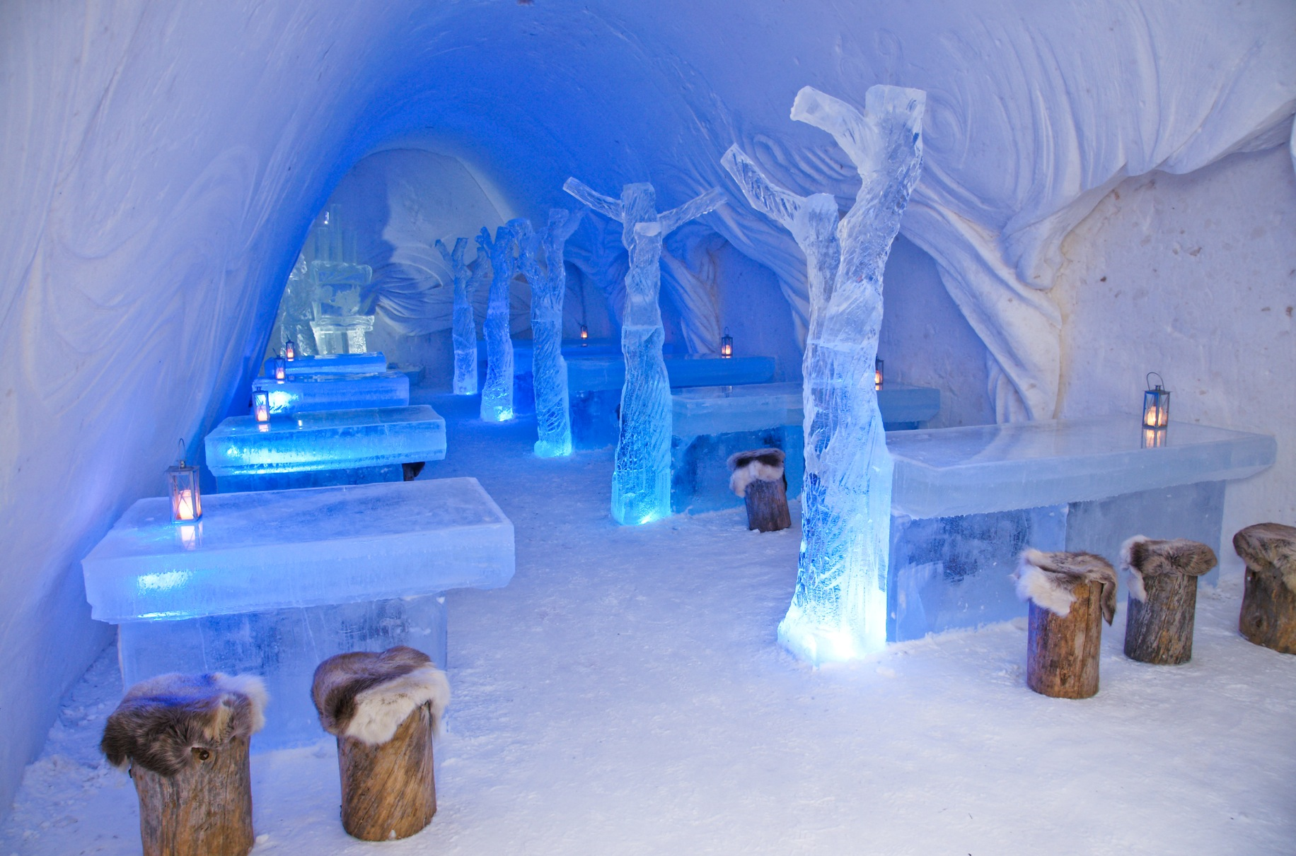 Snowcastle Restaurant Finland