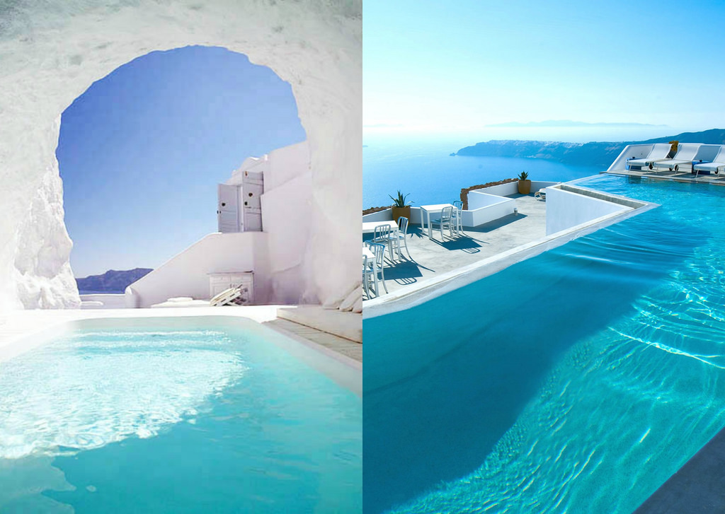15 magical hotels to visit in your lifetime lost waldo for Hotels in santorini with infinity pools