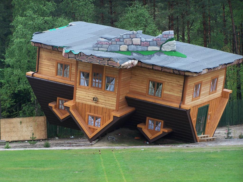 Upside Down House, Szymbark, Poland
