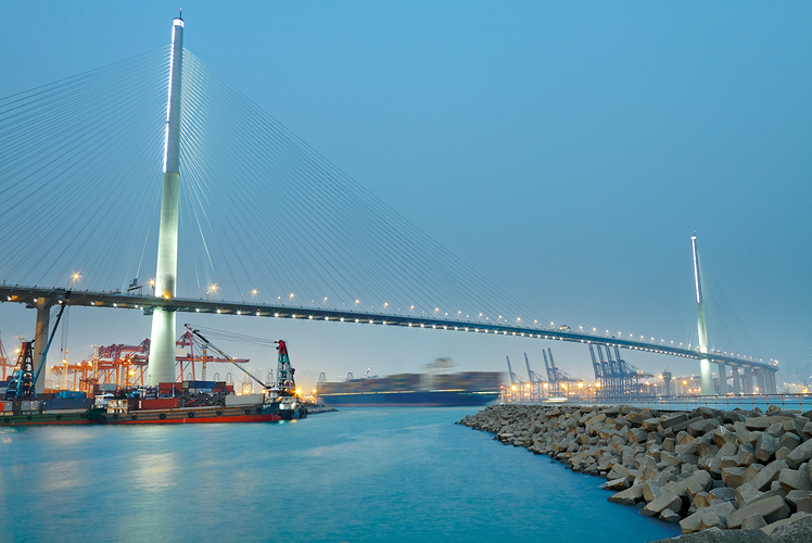 Stonecutters Bridge in Hong Kong