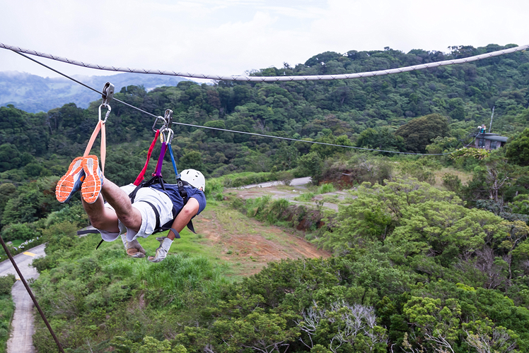 Zip lining through Costa Rica