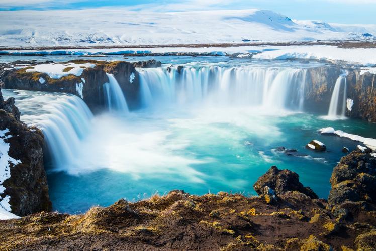 Goddafoss Waterfall