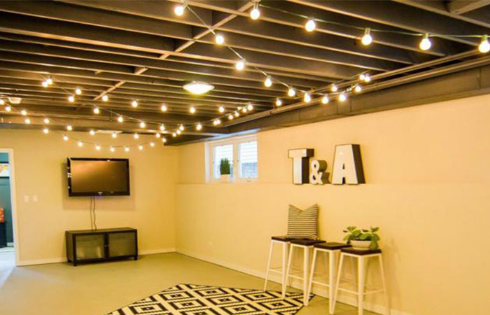Finishing Touches Art Deco Lighting: 8 Finishing Touches For Your Unfinished Basement